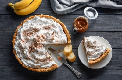 Pokrivena pita od banana