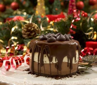Novogodišnji čokoladni kolač od sira