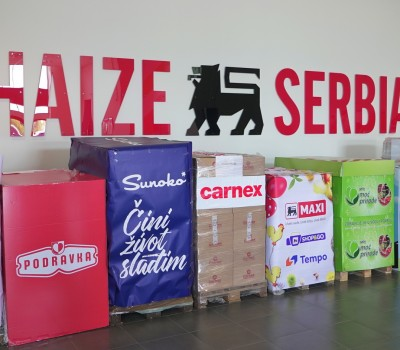 Sunoko donates a range of products to Food Bank Belgrade