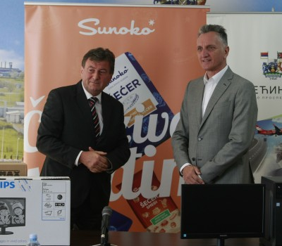 Sunoko has donated 10 computers to Elementary Schools in Pećinci