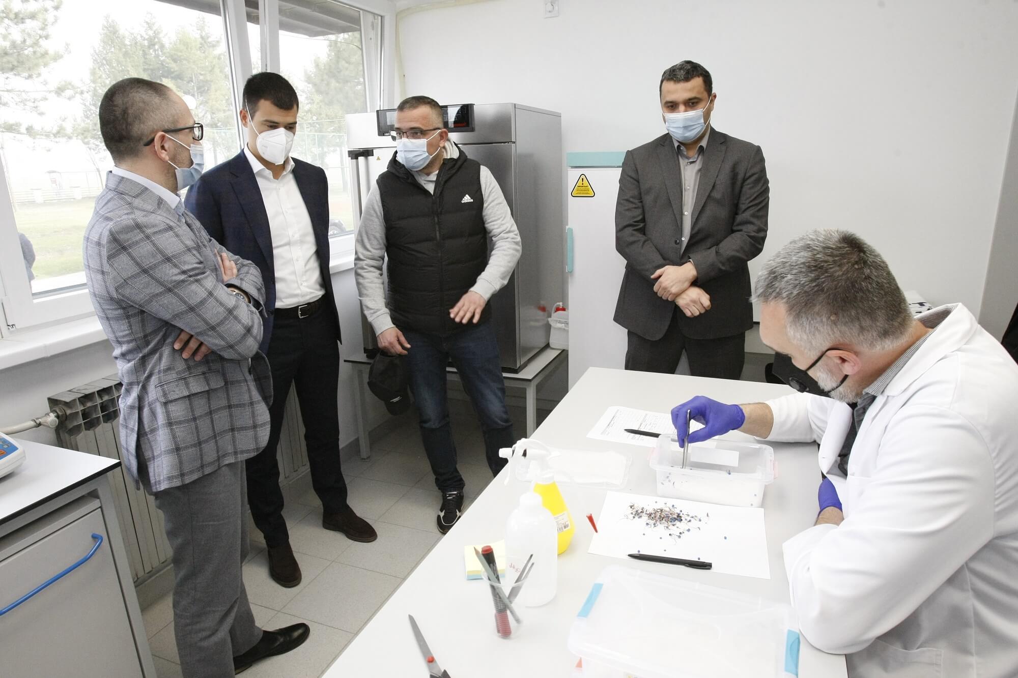 Nenad Trkulja, direktor IRC Sunko, Aleksandar Kostić, potpredsednik MK Group, ministrar Nedimović, Slobodan Košutić, direktor Sunoko